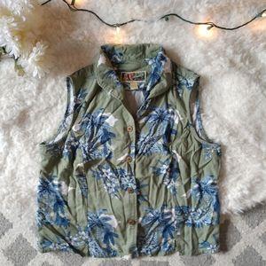 Vintage La Cabana Coconut Button Tropical Shirt